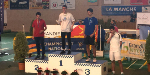 Podium d'Alexandre au national de Badminton