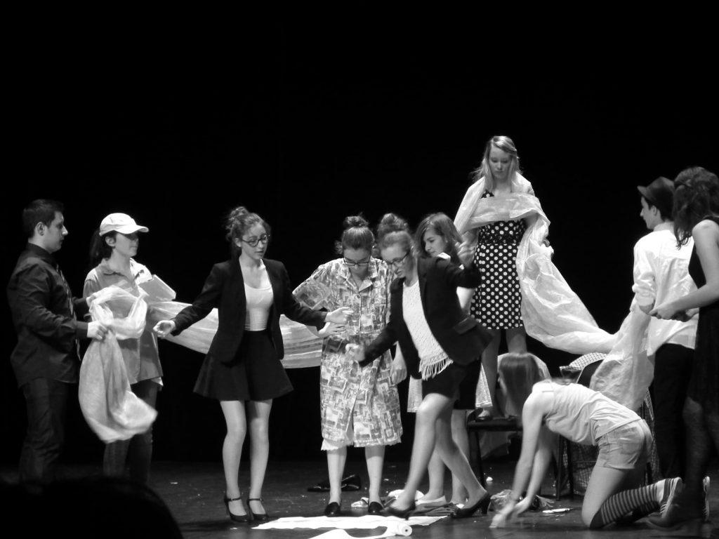 élèves de première théâtre