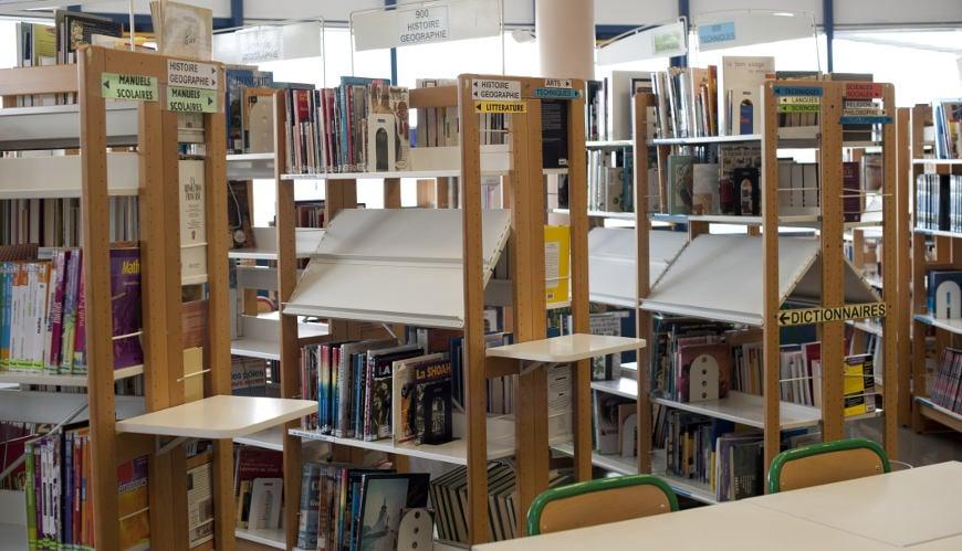 rayons de livres du CDI