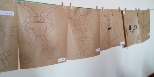 création lors de la  visite à Oiron